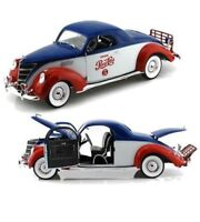 AUTO WORLD 1:18 Die Cast 1937 PEPSI Lincoln Zephyr Coupe AW205 FREE SHIPPING
