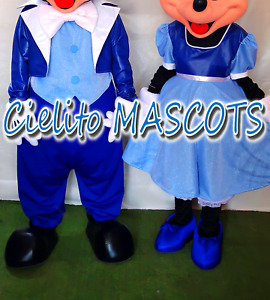 only clothing (not including head) Blue Mickey and Minnie Mascot mouse Costume