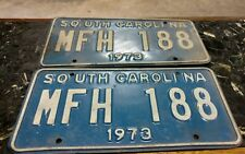 Pair 1973 South Carolina license plates MFH 188