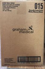 "GRAHAM MEDICAL - TABLE PAPER, SMOOTH - WHITE - 14.5"" x 225' - #015 - 12/CS"