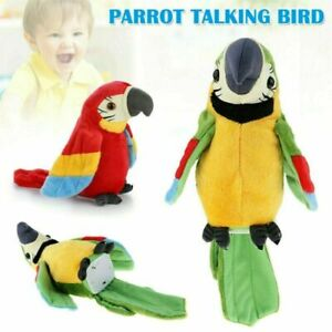 Talking Parrot Moves & Repeat Imitates Your Voice Joke and Fun Toy Gift UK