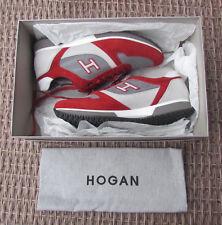 Hogan Scarpe Sneakers Uomo camoscio Nuove H 198 Slash Rosso C4b