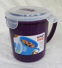 Soupe Tasse-Couvercle à Micro-Ondes Soupe Tasse-panier repas/soupe sur le GO-Bnwt