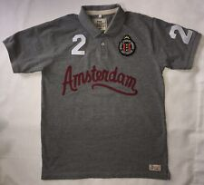 Amsterdam Polo Shirt Mens Large Gray Rugby Fox Originals #2 Embroidered