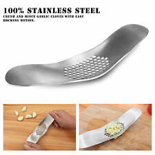 Garlic Press Grinding Grater Slicer Mincer Cutter Kitchen Tool Stainless Steel S