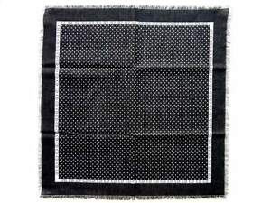Dior Scarf Dark grey with white polkadot CD logo, pure double-faced wool