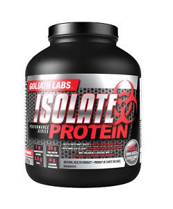 Goliath Labs Isolate Whey Protein Powder 10lbs Cho Van Keto Friendly 162 serv