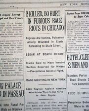 Chicago Race Riot Red Summer Negroes Murder Looting Arson of 1919 Newspaper