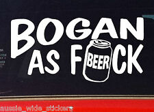BOGAN AS Aussie BNS Redneck Country Ute Funny Stickers 200mm