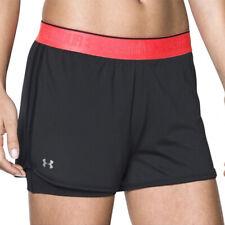 Under Armour UA HeatGear 2 in 1 Ladies Shorty Black Gym Running Shorts