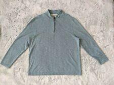 Tasso Elba Size XL 1/4 Zip Men Pullover Sweater Long Sleeve Mock Neck Blue EUC