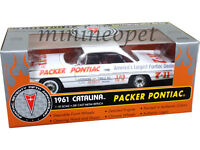 ERTL 29417 1961 PONTIAC CATALINA PACKER RACE CAR 1/18 LIMITED EDITION WHITE