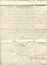 K2009, SWEDEN, ROYAL DOC. SIGNED BY KING OSCAR I IN STOCKHOLM 12/3-1856.