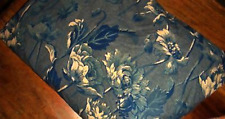 Ralph Lauren Donovan Floral Twin Fitted Sheet New W/O Package Navy Blue
