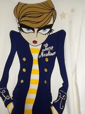 Moschino Girl Print Long Sleeve T Shirt Size M BNWT