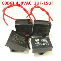 CBB61 450V 1.5/2/2.5/3/4.5/5/6/7/8/10/12 UF Air conditioner Fan Motor Capacitor