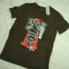 Nwt Cat & Jack Boys Gumball Machine Wolf Short Sleeves Brown T-Shirt, Xl (16)