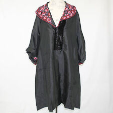 NWT Nataya Formal Embroidered Floral Velvet Accent Dress Opera Coat Large