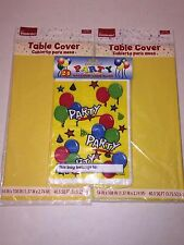 "2 Plastic Birthday Tablecloth Covers 54""x108"" + 24 Party Favor Balloon Loot Bags"