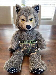"Build-A-Bear RARE Werewolf Howl O Ween Wolf 18"" Glow In Dark Plush! Stars Moons"