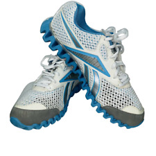 Reebok Zignano Tennis Shoes Womens Gray Size 9.5 Blue Gray Reflective