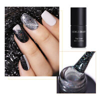 NICOLE DIARY Holographic Glitter Top Coat Laser Soak Off UV Gel Polish Varnish