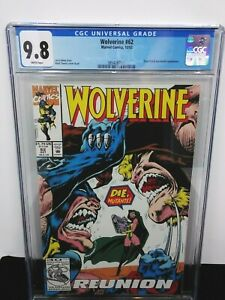 MARVEL WOLVERINE 62 CGC 9.8 SILVER FOX & SABRETOOTH APPEARANCE WHITE PAGES