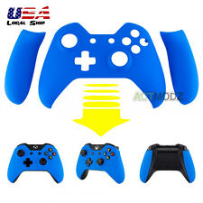 Soft Touch Blue Front Housing Shell Faceplate Side Rails for Xbox One Controller
