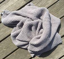 Handtuch Badetuch Saunatuch Stonewashed 110x160 Leinen Waffelpique Mausgrau