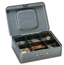 """Hélice 8"""" cerradura de combinación Caja De Efectivo-Caja de dinero en efectivo de estaño, mezquino, bandeja de monedas + seguro"""