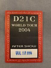 The Doors of the 21st Century Manzarek Krieger D21c Mint satin backstage pass