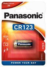 10 PANASONIC CR123A Lithiumbatterie CR123 CR 123 A NEU Ø16,5 x 34,2mm
