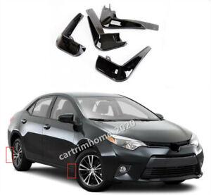 Fit For Toyota Corolla 2014-2018 Glossy black Mud Flaps Splash Guards Mudguard