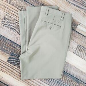 FootJoy men's 38x30 (measure 38x30) golf pants tan stretch pockets logo