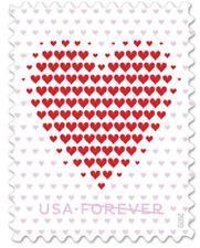 USPS 300 (15 Panes of 20) New Made of Hearts First Class Forever Postage Stamps