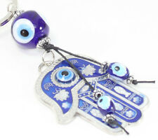 Blue Evil Eye Hamsa Hand Keychain Blessing Protection Religious Good Luck Gift