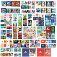 5D Diamond Painting Christmas Birthday Greeting Card Cross Stitch DIY Xmas Craft
