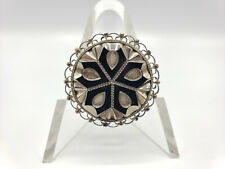 "Vintage Sterling Silver ""Snowflake"" Pin"