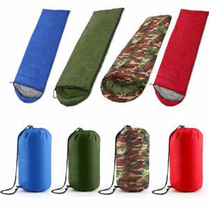 4 Season Sleeping Bag Waterproof Outdoor Camping Hiking Envelope Single Zip Bag-
