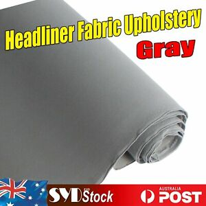 Grey Headliner Fabric Upholstery Car Roof Lining Remedy 1.5M Wide/ Sold By Mtr