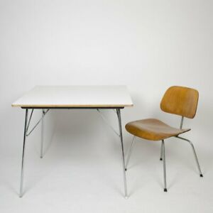 1960s Eames Herman Miller Folding DTM 20 Square Dining Table 11 Available 34x34