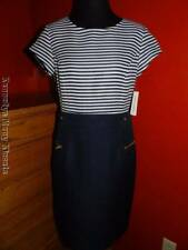 Women's Shelby & Palmer Navy Blue & White Stripe Sheath Dress NWT Size 6