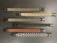 Pack of 6 Paracord Bracelet  Micro Cord Bracelets XL With free shipping
