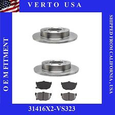 Set Of Rear Kit Brake  Fit Kia Spectra 2004-2009 & Kia Spectra 5 2005-2009