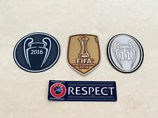 2016 UEFA FIFA World Champions League Trophy 11 Patch Badge For Real Madrid