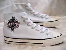 High-Top Leinen Sneaker Weiß Größe 39