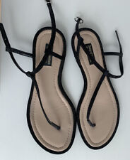 Juicy Couture Black Leather Sandals SIze 40 EU Used *bargain*