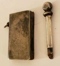 Antique H&A Horton Allday Co. Sterling Silver Victorian Match Striker Lighter