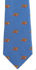 J. Crew Crewcuts Bi Planes Boys Necktie Prop Airplane Woven Silk Blue Tie New