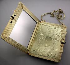 Compact w Sapphire over 95 Grams Antique Estate Victorian 14k Gold Necessaire